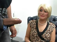 Blonde Milf Kira Silver Takes Some Interracial Sex from A Big Cock
