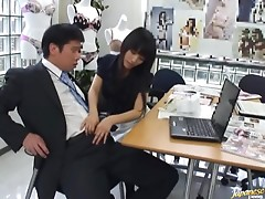 Office Handjob From A Smoking Hot Japanese Babe