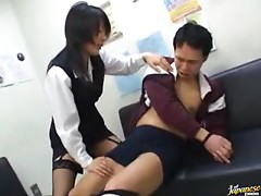 Asian Office Girl Shocks A Guy By Having Sex With Him