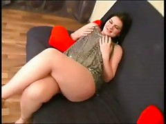 Fat Chubby Brunette masturbating her Wet Pussy