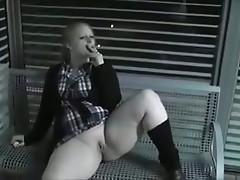 chubby smoking