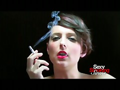 Smoking Fetish - Sexy Brunette Smokes a Cigarette