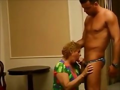 German Granny Blowjob