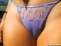 Perfect Ass & Legs in Ultra Hot High Heels and G-String! HOT