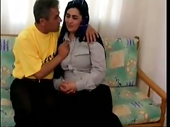 Horney couple fucks with passion