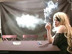 Riley smoking