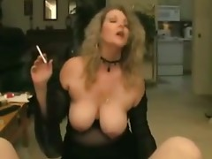 smoking nice mom