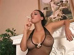 sexy mistress giving fetish handjob