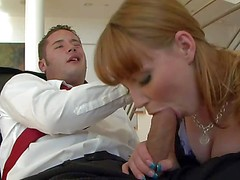 Marie McCray is cock hungry and can't miss her chance