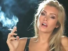 Natasha Marley enjoying a smoke