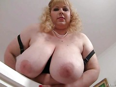 Chubby blonde Angelynne Hart is proud of her unthinkably big