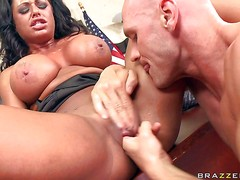 Big titted brunette Kerry Louise gets treated like a whore