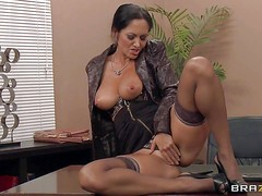 Ava Addams is a big titted secretary who spends free
