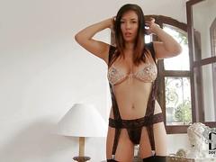 Jelena Jensen is a breathtakingly beautiful model with sexy long