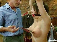 Amy Brooke is a shoplifter with perfect big boobs. Helpless
