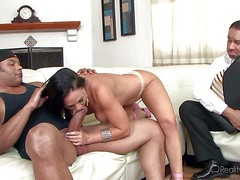 Cherokee is a sex hungry wife. Topless woman in tight