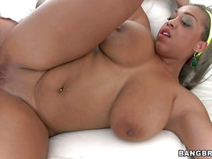 Curvy chocolate skinned Monica is a BBW slut that gets