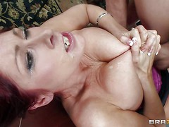 Tiffany Mynx is a big breasted office lady. Horny boss