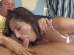 Reena Sky gets her mouth fucked real deep and rough