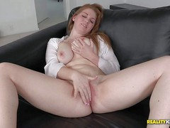 Bre Pheonix with juicy big natural tits rubbed her shaved
