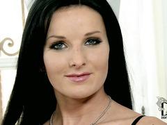 European babe Vanessa Jordin with black hair and beautiful eyes