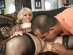 Sex obsessed blonde mom Sophie Mounds with wet pierced pussy