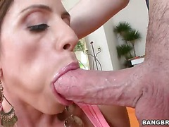Huge hard veiny cock is what Busty experienced pornstar Ariella