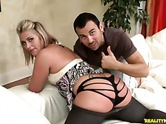 Curious guy Voodoo admires juicy ass of delicious slut Cambrey