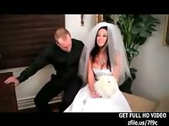 BABE BRUNETTE BRIDE FUCKING