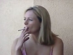 candid smoking blonde 2