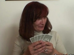 Granny plays strip poker then double dicked