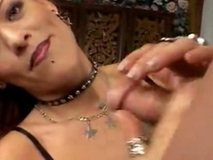 Milf doing handjob then being fucked hard
