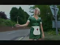 Smoking Latex Rubber Nurse Outside The Hospital