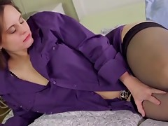 Sweet Mature Masturbates Slowly