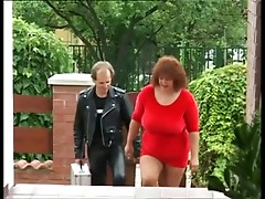 Big tit mature sucks it clean