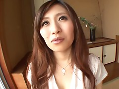 Erika Inamoto gives a blowjob and gets cum on her face