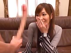Beautiful Japanese Girl Sucks On A Long-Ass Cock