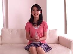 Japanese hottie Hitomi Honjou satisfies herself with masturbation