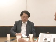 Japanese secretary gets fucked by her boss in his office