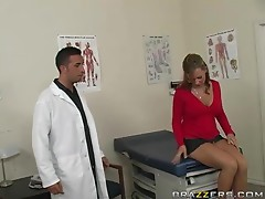 Lewd doctor Keiran Lee fucks his sexy patient Nikki Sexx