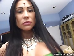 Traditional Indian Chick Becomes a Big Breasted Anal Slut