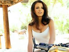 Slender playboy babe Bethanie Badertscher  shows her tits