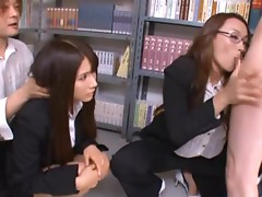 Teachers Rui Saotome And Sara Ogawa Suck Dicks at School