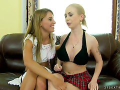 Isabella Clark gets her pussy fisted by horny lesbian Nikky Thorne