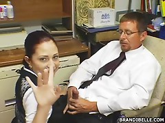 Brandi Belle sucking her teacher´s cock here!