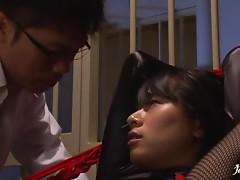 Vibrator Bondage With Japanese Slut.
