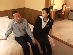 Mio Kitagawa the Hotel Worker Sucks A Customer's cock