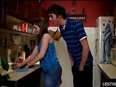 Intense Kitchen Sex With Iveta And Her Horny Boyfriend