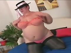 Busty insanely horny BBW GRANNY fucks!