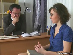 Filthy Teacher Gets Nasty With Some Chick.